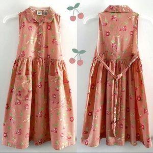 🍒Vintage Gap cotton summer cherry print dress